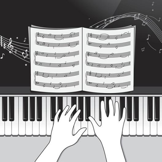 电子琴弹奏
