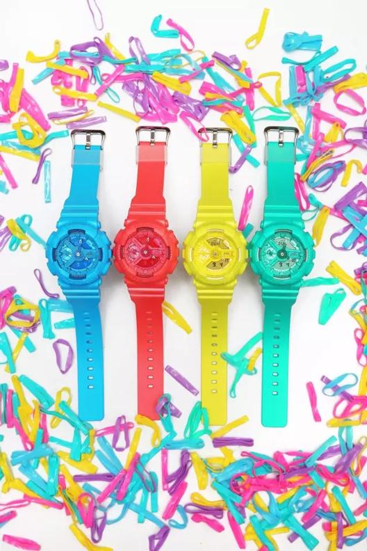 卡西欧糖果色手表