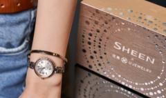卡西欧官方商城 SHEEN X 优集合作款蜜桃金手镯礼盒上市