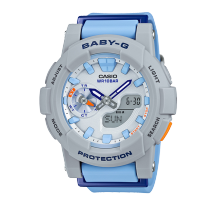 卡西欧手表 BABY-G 【跑步主题】运动风格 反射涂层 秒表 防水多功能运动女表BGA-185