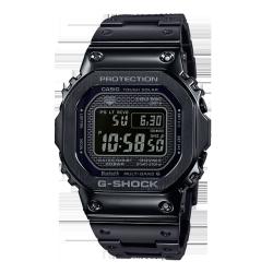 卡西欧手表 G-SHOCK 全金属IP涂层反显液晶屏 防震防水六局电波太阳能动力运动男表GMW-B5000GD-1PRT