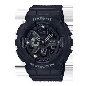 卡西欧手表 BABY-G 35周年纪念特殊背刻 限量款钻石表 钻石点缀 防水防震运动女表BA-135DD-1APR