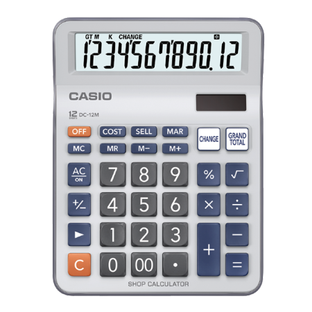 卡西欧计算器 日常商务 零售店专用找零计算器DC-12M