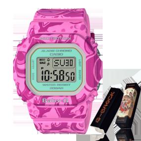 卡西欧手表 BABY-G 七福神系列限量款 弁财天 特殊背刻包装 防水防震功能运动女表BGD-560SLG-4DR