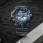 卡西欧手表 G-SHOCK  哑光黑金 防震防水高亮度LED运动男表GA-710B-1A2PR