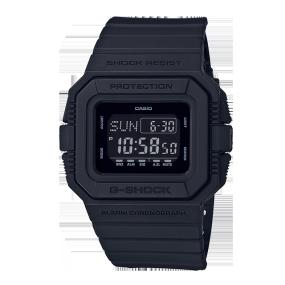 卡西欧手表 G-SHOCK 【新品】全黑配色复刻版经典系列设计 防水防震运动男表DW-D5500BB-1PR