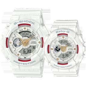 卡西欧手表 情侣对表系列 【新品】G-SHOCK & BABY-G钻石红线限量款对表 幸福牵线! 防水防震运动男女表GA-110DDR-7APR & BA-110DDR-7APR
