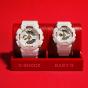卡西欧手表 情侣对表系列  G-SHOCK & BABY-G钻石红线限量款对表 幸福牵线! 防水防震运动男女表GA-110DDR-7APR & BA-110DDR-7APR