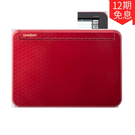 卡西欧电子教育 留学英汉 英汉辞典、留学、樱桃红E-Z200RD