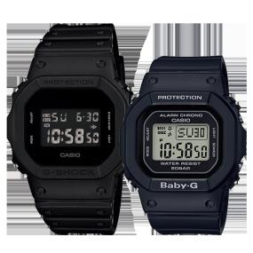 卡西欧手表 情侣对表系列 DW-5600BB-1PR&BGD-560-1PR