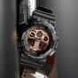 卡西欧手表 G-SHOCK  玫瑰金配色经典系列设计 防水防震运动男表GA-100MMC/800MMC