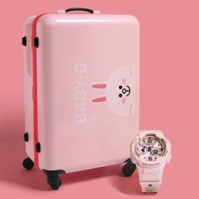 卡西欧手表 BABY-G LINE FRIENDS | CASIO 联名系列-CONY款 时尚女表运动防水手表BGA-230SC-4BPRL