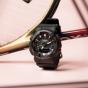 卡西欧手表 G-SHOCK  S-Series 时尚 防水防震运动女表GMA-S130PA