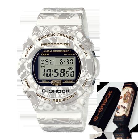 卡西欧手表 G-SHOCK 七福神系列限量款 寿老人 特殊背刻包装 防水防震功能表款DW-5700SLG-7DR