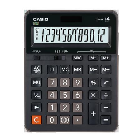 卡西欧计算器 日常商务 大屏大按键大尺寸双电源GX-14B