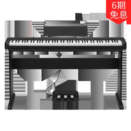 卡西欧电子乐器 电钢琴 三角钢琴音效 EP-S120(含琴架+三踏板)初学入门便携电钢琴双钢琴模式