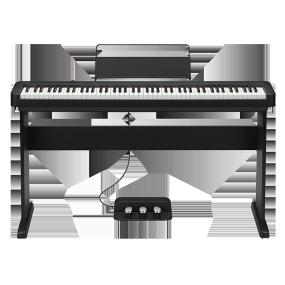 卡西欧电子乐器 电钢琴 88键渐进式击弦键盘 CDP-S150 官方套装(含琴架+三踏板)初学入门便携电钢琴双钢琴模式