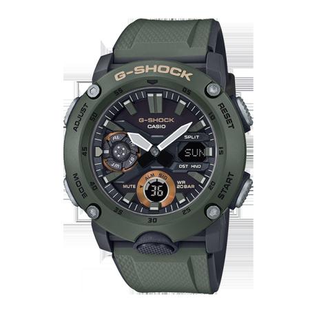 卡西欧手表 G-SHOCK 碳纤核心防护构造 防震防水军事风格男表GA-2000 新配色