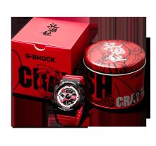 卡西欧手表 G-SHOCK 【新品】硬碰硬主题 小龙虾特别款 经典红黑搭配 防磁防水防震 GA-110RB-1APRCF