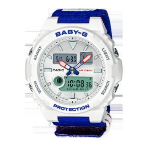 卡西欧手表 BABY-G 25周年纪念款特殊背刻表盒 替换表带  防水防震运动女表BAX-125-2APR