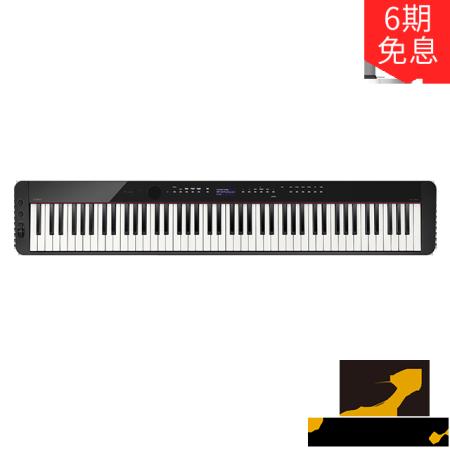 卡西欧电子乐器 电钢琴 纤薄时尚智能个性电钢琴 PX-S3000BK(单机版)三角钢琴音效便携不插电电钢琴 多重演奏功能舞台表演级电钢琴