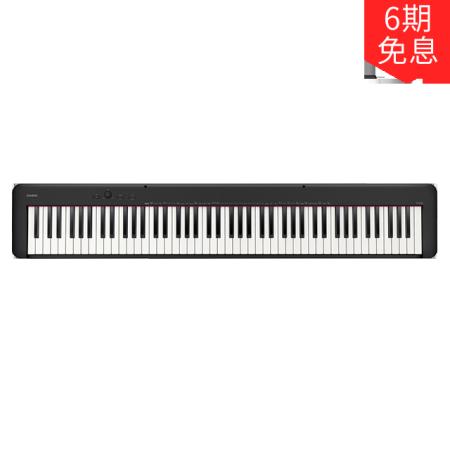 卡西欧电子乐器 电钢琴 三角钢琴音效 EP-S120BK(单机版)初学入门便携电钢琴双钢琴模式