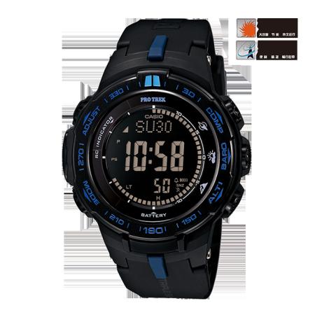 卡西欧手表 PRO TREK 登山系列户外运动太阳能动力电波表PRW-3100Y