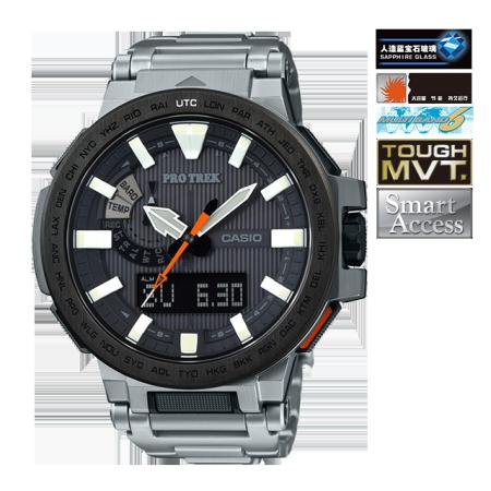 卡西欧手表 PRO TREK 双显登山系列高端商务运动手表PRX-8000T-7ADR