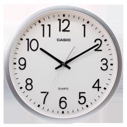 卡西欧钟表 挂钟 挂钟客厅简约静音时钟卧室石英钟圆形挂表IQ-77-8PF