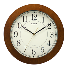 卡西欧钟表 挂钟 客厅静音时尚时钟简约挂表石英钟表IQ-126-5PF
