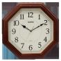 卡西欧钟表 挂钟  挂钟客厅挂表卧室办公静音实木钟表石英钟IQ-123S-5PF