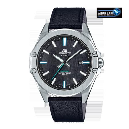 卡西欧手表 EDIFICE 轻薄简约 人造蓝宝石玻璃镜面  防水商务男表EFR-S107