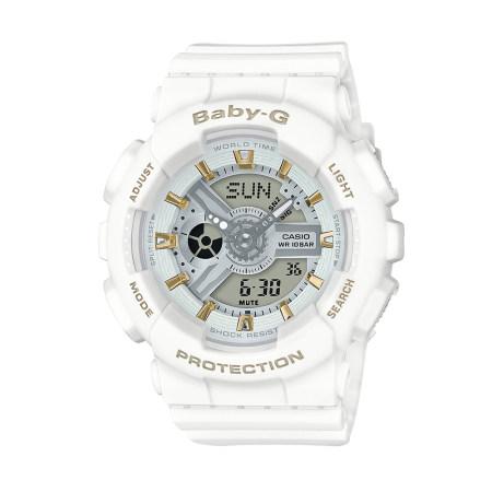 卡西欧手表 BABY-G BA-110系列时尚金色配色防震防水运动女表BA-110GA