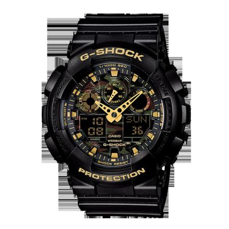 卡西欧手表 G-SHOCK 迷彩户外运动防水男表GA-100CF