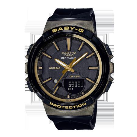 卡西欧手表 BABY-G 多功能运动计步防震双重LED照明防水运动女表BGS-100GS