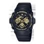 卡西欧手表 G-SHOCK  经典黑金潮流入门款防水防震运动手表AW-591GBX