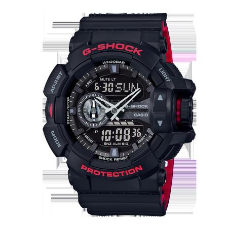 卡西欧手表 G-SHOCK 双色成型表带经典原型配色运动防水手表DW-5600HR/GA-110HR/GA-400HR