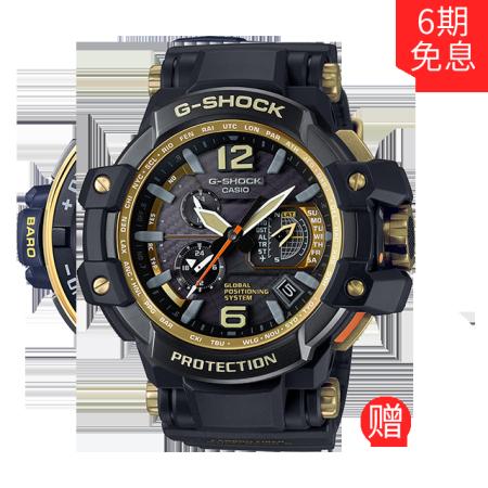卡西欧手表 G-SHOCK 航空黑金系列时尚多功能运动手表GPW-1000GB-1APR