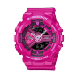 卡西欧手表 G-SHOCK  中性粉色系防水运动手表GMA-S110MP