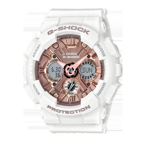 卡西欧手表 G-SHOCK G-SHOCK 女性系列 小型化表盘运动防震防水手表GMA-S120MF