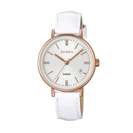 卡西欧手表 SHEEN 甜美马卡龙色优雅时尚女表SHE-4048PGL