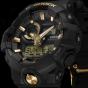 卡西欧手表 G-SHOCK  哑光黑金 防震防水高亮度LED运动男表GA-710B