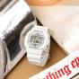 卡西欧手表 G-SHOCK  纯白海滩主题 防水防震 运动中性表DW-5600MW-7PR