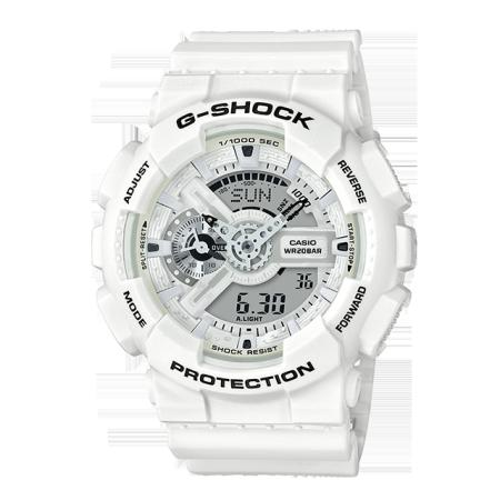 卡西欧手表 G-SHOCK 纯白海滩主题 防水防震 运动中性表GA-110MW-7APR
