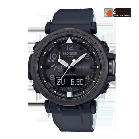 卡西欧手表 PRO TREK 夜间荧光 专业登山防水太阳能动力运动男表PRG-650
