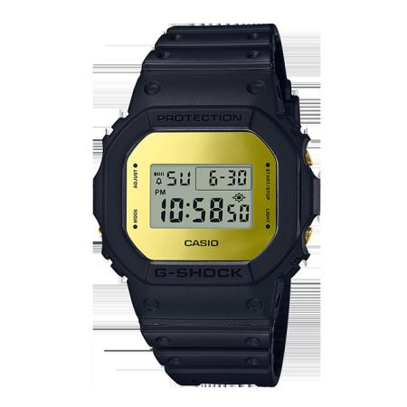 卡西欧手表 G-SHOCK 经典黑金黑银配色 防水防震运动男表DW-5600BBMB-1DR