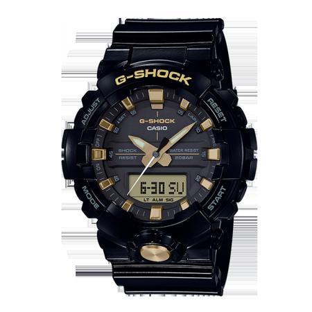 卡西欧手表 G-SHOCK 经典黑金配色 防水防震防磁运动男表GA-810GBX