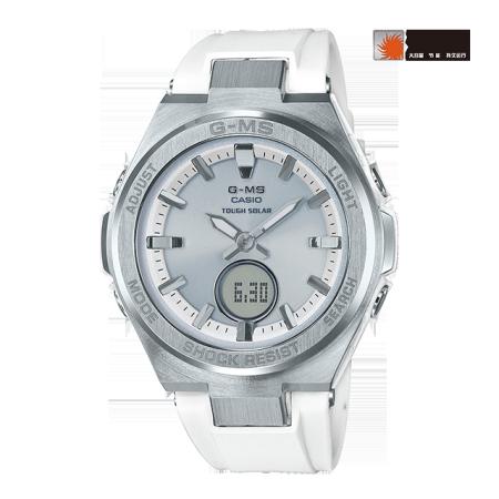 卡西欧手表 BABY-G G-MS系列  防水防震太阳能白领女款手表MSG-S200
