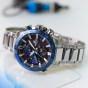 卡西欧手表 EDIFICE  太阳能人造蓝宝石玻璃镜面 3D立体表盘 防水男士商务表EQS-600YDB