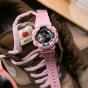卡西欧手表 G-SHOCK  G-SHOCK 女士腕表 中性粉色系防水运动手表GMA-S110MP